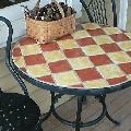tiled round table--full view